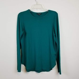 Eileen Fisher green long sleeve top size PM